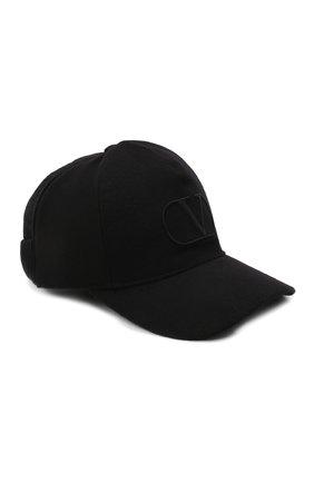 Мужской шерстяная бейсболка VALENTINO черного цвета, арт. WY0HDA27/VUP | Фото 1 (Материал: Шерсть)