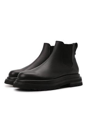 Мужские кожаные челси GIORGIO ARMANI черного цвета, арт. X2M332/XF528 | Фото 1 (Каблук высота: Высокий; Подошва: Массивная; Материал внутренний: Натуральная кожа; Мужское Кросс-КТ: Челси-обувь, Сапоги-обувь)