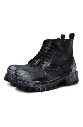 Мужские текстильные ботинки strike BALENCIAGA черного цвета, арт. 670633/W2DY2 | Фото 1 (Материал внутренний: Натуральная кожа; Материал внешний: Текстиль; Каблук высота: Высокий; Подошва: Массивная; Мужское Кросс-КТ: Ботинки-обувь)