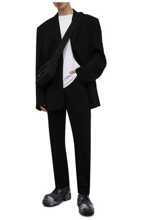 Мужские текстильные ботинки strike BALENCIAGA черного цвета, арт. 670633/W2DY2 | Фото 2 (Материал внутренний: Натуральная кожа; Материал внешний: Текстиль; Каблук высота: Высокий; Подошва: Массивная; Мужское Кросс-КТ: Ботинки-обувь)