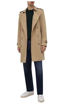 Мужские кожаные кеды court classic sl/06 SAINT LAURENT белого цвета, арт. 421572/00ND0 | Фото 2 (Материал внутренний: Натуральная кожа; Подошва: Массивная)