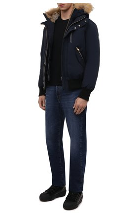 Мужские кожаные ботинки cusago BALLY черного цвета, арт. CUSAG0-T-1851/00 | Фото 2 (Материал утеплителя: Натуральный мех; Подошва: Массивная; Мужское Кросс-КТ: Ботинки-обувь, зимние ботинки)