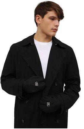Мужские варежки DOLCE & GABBANA черного цвета, арт. GG808A/FUS0E | Фото 2 (Материал: Текстиль, Синтетический материал; Кросс-КТ: Пуховик)