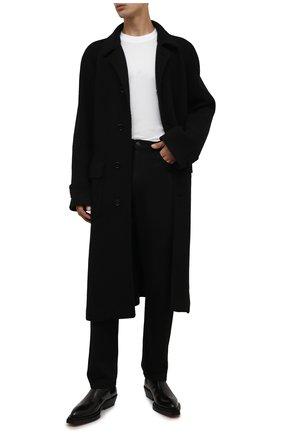 Мужской пальто DOLCE & GABBANA черного цвета, арт. G013JT/FU79Z | Фото 2 (Рукава: Длинные; Материал внешний: Синтетический материал; Материал подклада: Вискоза; Длина (верхняя одежда): Длинные; Мужское Кросс-КТ: пальто-верхняя одежда; Стили: Классический)