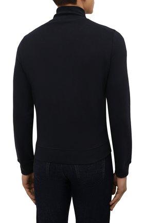 Мужской хлопковый кардиган CORNELIANI темно-синего цвета, арт. 88G567-1825020/00 | Фото 4 (Мужское Кросс-КТ: Кардиган-одежда; Рукава: Длинные; Длина (для топов): Стандартные; Материал внешний: Хлопок; Стили: Спорт-шик)