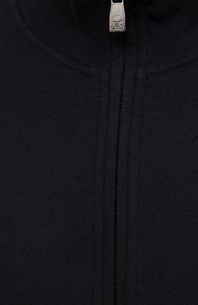 Мужской хлопковый кардиган CORNELIANI темно-синего цвета, арт. 88G567-1825020/00 | Фото 5 (Мужское Кросс-КТ: Кардиган-одежда; Рукава: Длинные; Длина (для топов): Стандартные; Материал внешний: Хлопок; Стили: Спорт-шик)