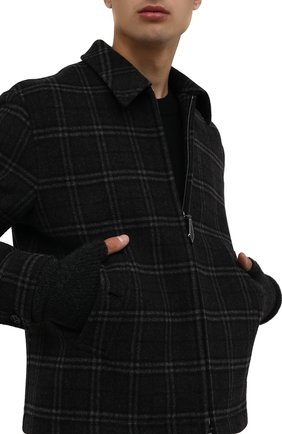 Мужские шерстяные митенки ISABEL BENENATO серого цвета, арт. UK16F21 | Фото 2 (Материал: Шерсть; Кросс-КТ: Трикотаж)