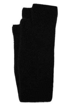 Мужские шерстяные митенки ISABEL BENENATO черного цвета, арт. UK16F21 | Фото 1 (Материал: Шерсть; Кросс-КТ: Трикотаж)