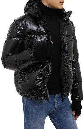 Мужские шерстяные митенки ISABEL BENENATO черного цвета, арт. UK16F21 | Фото 2 (Материал: Шерсть; Кросс-КТ: Трикотаж)