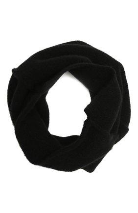 Мужской шерстяной шарф-снуд ISABEL BENENATO черного цвета, арт. UK15F21 | Фото 1 (Материал: Шерсть; Кросс-КТ: шерсть)