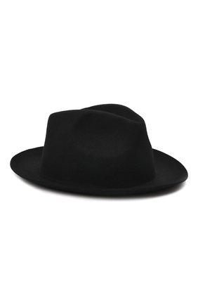 Мужская шерстяная шляпа ISABEL BENENATO черного цвета, арт. UA11F21 | Фото 1 (Материал: Шерсть)