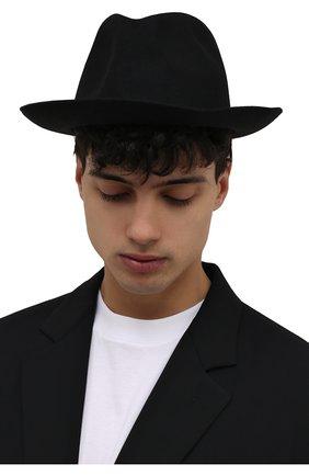 Мужская шерстяная шляпа ISABEL BENENATO черного цвета, арт. UA11F21 | Фото 2 (Материал: Шерсть)