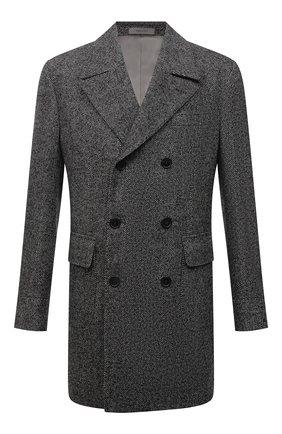 Мужской шерстяное пальто CORNELIANI темно-серого цвета, арт. 881502-1812123/00 | Фото 1 (Материал подклада: Вискоза; Рукава: Длинные; Длина (верхняя одежда): До середины бедра; Материал внешний: Шерсть; Мужское Кросс-КТ: пальто-верхняя одежда; Стили: Классический)