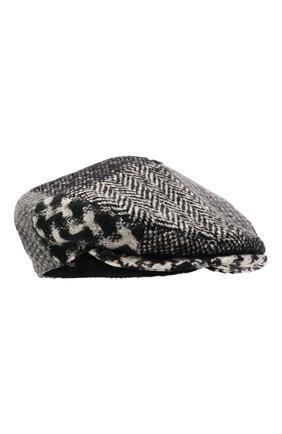 Мужская кепи из шерсти и хлопка DOLCE & GABBANA черно-белого цвета, арт. GH587A/GEV61 | Фото 1 (Материал: Шерсть)
