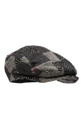 Мужская кепи из шерсти и хлопка DOLCE & GABBANA серого цвета, арт. GH587A/GET49 | Фото 1 (Материал: Текстиль, Хлопок, Шерсть)