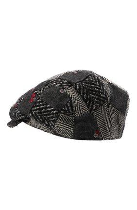 Мужская кепи из шерсти и хлопка DOLCE & GABBANA серого цвета, арт. GH587A/GET49 | Фото 2 (Материал: Текстиль, Хлопок, Шерсть)
