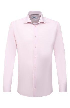 Мужская хлопковая сорочка ETON розового цвета, арт. 1000 01652 | Фото 1 (Материал внешний: Хлопок; Длина (для топов): Стандартные; Рукава: Длинные; Случай: Формальный; Принт: Однотонные; Стили: Классический; Воротник: Акула; Манжеты: На пуговицах; Рубашки М: Slim Fit)