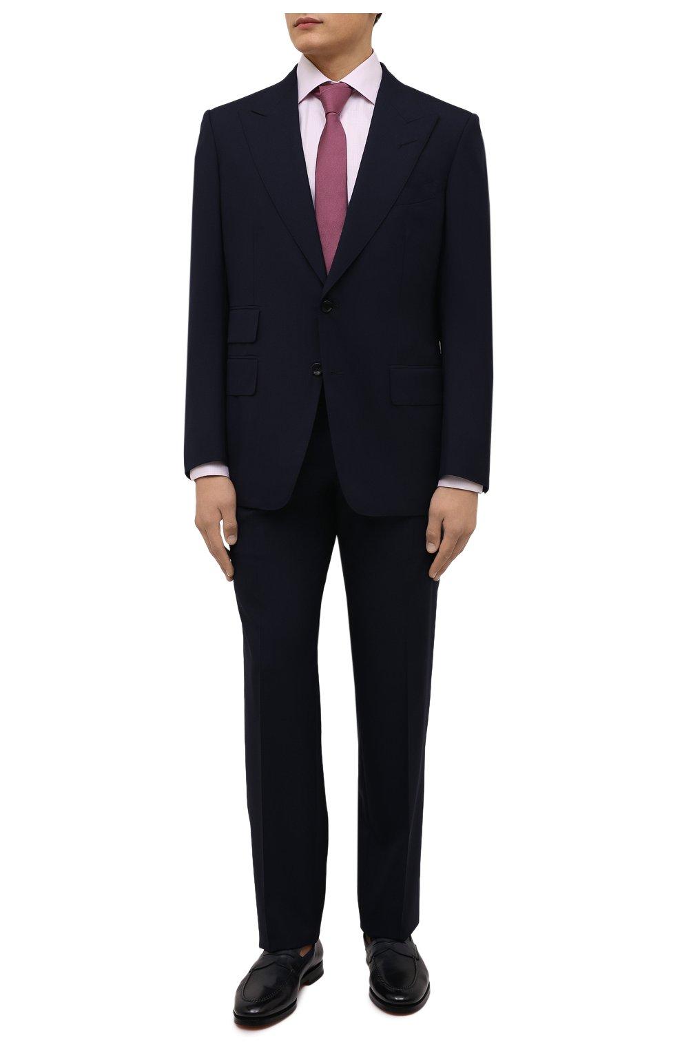 Мужская хлопковая сорочка ETON розового цвета, арт. 1000 01652   Фото 2 (Манжеты: На пуговицах; Рукава: Длинные; Воротник: Акула; Длина (для топов): Стандартные; Рубашки М: Slim Fit; Материал внешний: Хлопок; Стили: Классический; Случай: Формальный; Принт: Однотонные)