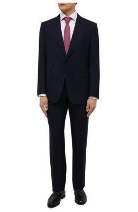 Мужская хлопковая сорочка ETON розового цвета, арт. 1000 01652 | Фото 2 (Материал внешний: Хлопок; Длина (для топов): Стандартные; Рукава: Длинные; Случай: Формальный; Принт: Однотонные; Стили: Классический; Воротник: Акула; Манжеты: На пуговицах; Рубашки М: Slim Fit)