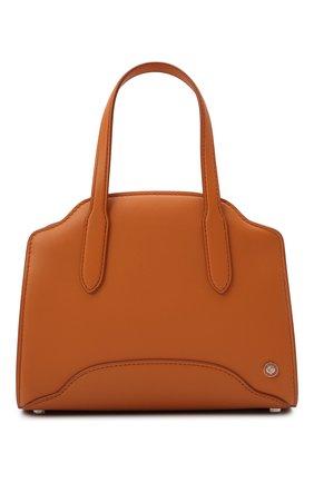 Женская сумка sesia micro LORO PIANA оранжевого цвета, арт. FAL8562   Фото 1 (Материал: Натуральная кожа; Сумки-технические: Сумки top-handle, Сумки через плечо; Размер: mini; Ремень/цепочка: На ремешке)