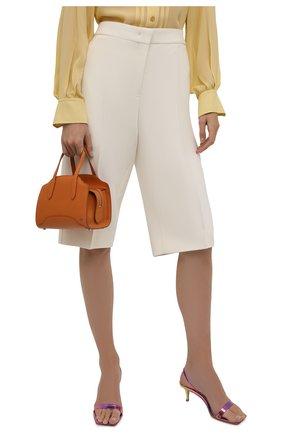 Женская сумка sesia micro LORO PIANA оранжевого цвета, арт. FAL8562   Фото 2 (Материал: Натуральная кожа; Сумки-технические: Сумки top-handle, Сумки через плечо; Размер: mini; Ремень/цепочка: На ремешке)