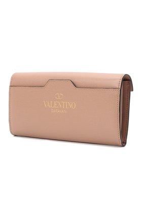 Женские кожаный кошелек VALENTINO бежевого цвета, арт. WW0P0W68/XVD | Фото 2