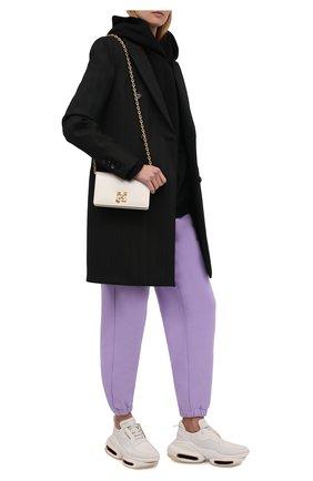 Женские комбинированные кроссовки b-bold BALMAIN кремвого цвета, арт. WN1VI541/LSSY   Фото 2 (Подошва: Платформа; Материал внутренний: Натуральная кожа)