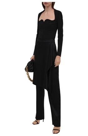 Женские шелковые брюки-юбка GIORGIO ARMANI черного цвета, арт. 1WHPP0JQ/T02AT | Фото 2 (Материал внешний: Шелк; Длина (брюки, джинсы): Удлиненные; Женское Кросс-КТ: Брюки-одежда; Стили: Гранж; Силуэт Ж (брюки и джинсы): Прямые)