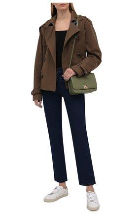Женские кожаные кеды sl/06 SAINT LAURENT белого цвета, арт. 592541/00ND0 | Фото 2 (Материал внутренний: Натуральная кожа; Подошва: Платформа)