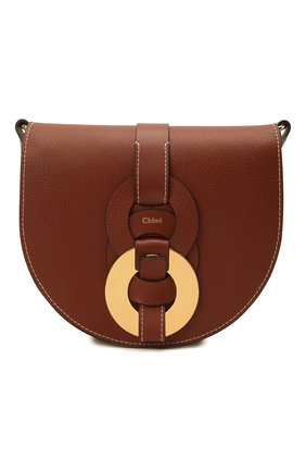 Женская сумка darryl CHLOÉ коричневого цвета, арт. CHC21SS344C61 | Фото 1 (Материал: Натуральная кожа; Сумки-технические: Сумки через плечо; Размер: mini; Ремень/цепочка: На ремешке)