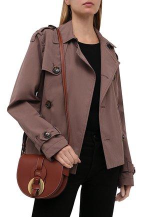 Женская сумка darryl CHLOÉ коричневого цвета, арт. CHC21SS344C61 | Фото 2 (Материал: Натуральная кожа; Сумки-технические: Сумки через плечо; Размер: mini; Ремень/цепочка: На ремешке)
