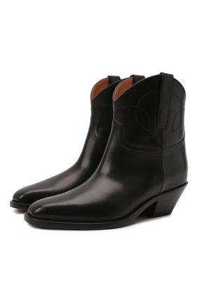 Женские кожаные ботинки jayme RALPH LAUREN черного цвета, арт. 800857453 | Фото 1 (Подошва: Плоская; Материал внутренний: Натуральная кожа; Каблук высота: Низкий; Каблук тип: Устойчивый; Женское Кросс-КТ: Казаки-ботинки)