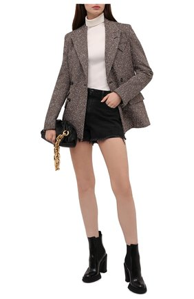 Женские кожаные ботильоны ALEXANDER MCQUEEN черного цвета, арт. 678530/WHZ84 | Фото 2 (Материал внутренний: Натуральная кожа; Каблук высота: Высокий; Подошва: Платформа; Каблук тип: Устойчивый)