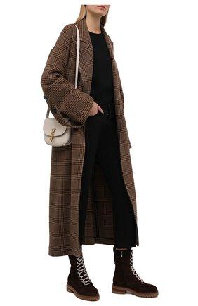 Женские замшевые ботинки sr joan SERGIO ROSSI темно-коричневого цвета, арт. A92040-MCRM13 | Фото 2 (Подошва: Платформа; Материал утеплителя: Натуральный мех; Каблук высота: Низкий; Материал внешний: Замша; Женское Кросс-КТ: Зимние ботинки)