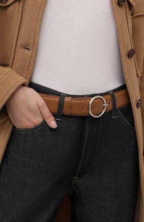Женский кожаный ремень DRIES VAN NOTEN бежевого цвета, арт. 212-011405-101 | Фото 2