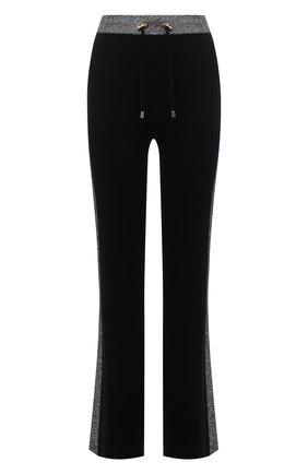 Женские брюки balmain x rossignol BALMAIN черного цвета, арт. WF2P0070/K345   Фото 1 (Материал внешний: Шерсть; Длина (брюки, джинсы): Удлиненные; Женское Кросс-КТ: Брюки-одежда; Стили: Спорт-шик; Силуэт Ж (брюки и джинсы): Расклешенные)