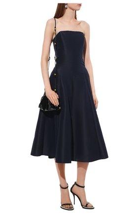 Женские кожаные босоножки DOLCE & GABBANA черного цвета, арт. CR1188/A1471   Фото 2 (Материал внутренний: Натуральная кожа; Каблук высота: Высокий; Подошва: Плоская; Каблук тип: Шпилька)