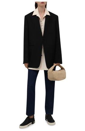 Женские текстильные слипоны custom 2.zero DOLCE & GABBANA черного цвета, арт. CK1803/AQ183 | Фото 2 (Материал внутренний: Натуральная кожа; Подошва: Платформа; Материал внешний: Текстиль)
