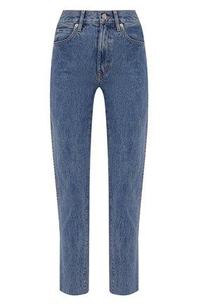 Женские джинсы SLVRLAKE голубого цвета, арт. PF21/HR0J707S/PACI | Фото 1 (Длина (брюки, джинсы): Стандартные; Материал внешний: Хлопок; Кросс-КТ: Деним; Детали: Потертости; Силуэт Ж (брюки и джинсы): Прямые; Стили: Гранж)