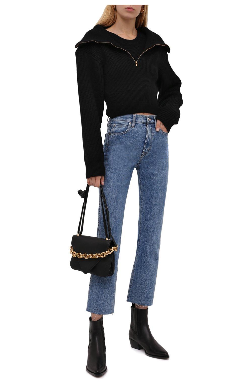 Женские джинсы SLVRLAKE голубого цвета, арт. PF21/HR0J707S/PACI   Фото 2 (Кросс-КТ: Деним; Длина (брюки, джинсы): Стандартные; Силуэт Ж (брюки и джинсы): Прямые; Стили: Гранж; Материал внешний: Хлопок; Детали: Потертости)