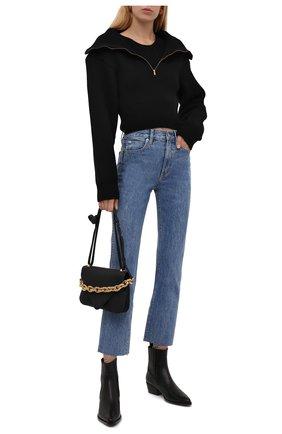 Женские джинсы SLVRLAKE голубого цвета, арт. PF21/HR0J707S/PACI | Фото 2 (Длина (брюки, джинсы): Стандартные; Материал внешний: Хлопок; Кросс-КТ: Деним; Детали: Потертости; Силуэт Ж (брюки и джинсы): Прямые; Стили: Гранж)