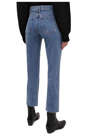 Женские джинсы SLVRLAKE голубого цвета, арт. PF21/HR0J707S/PACI   Фото 4 (Кросс-КТ: Деним; Длина (брюки, джинсы): Стандартные; Силуэт Ж (брюки и джинсы): Прямые; Стили: Гранж; Материал внешний: Хлопок; Детали: Потертости)