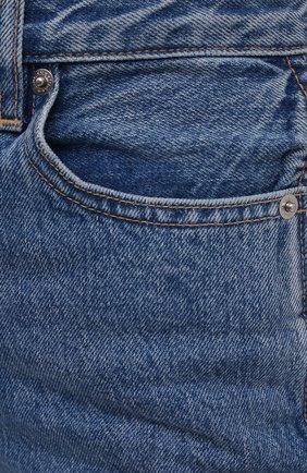 Женские джинсы SLVRLAKE голубого цвета, арт. PF21/HR0J707S/PACI   Фото 5 (Кросс-КТ: Деним; Длина (брюки, джинсы): Стандартные; Силуэт Ж (брюки и джинсы): Прямые; Стили: Гранж; Материал внешний: Хлопок; Детали: Потертости)