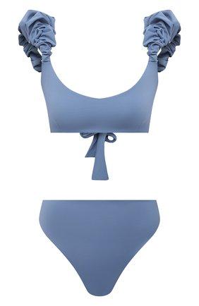 Женский раздельный купальник MAYGEL CORONEL голубого цвета, арт. BK-060 | Фото 1 (Материал внешний: Синтетический материал; Женское Кросс-КТ: Раздельные купальники; Длина Ж (юбки, платья, шорты): Мини)