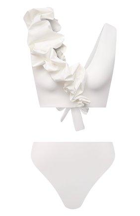 Женский раздельный купальник MAYGEL CORONEL белого цвета, арт. BK-062 | Фото 1 (Длина Ж (юбки, платья, шорты): Мини; Материал внешний: Синтетический материал; Женское Кросс-КТ: Раздельные купальники)