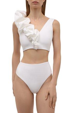 Женский раздельный купальник MAYGEL CORONEL белого цвета, арт. BK-062 | Фото 2 (Длина Ж (юбки, платья, шорты): Мини; Материал внешний: Синтетический материал; Женское Кросс-КТ: Раздельные купальники)