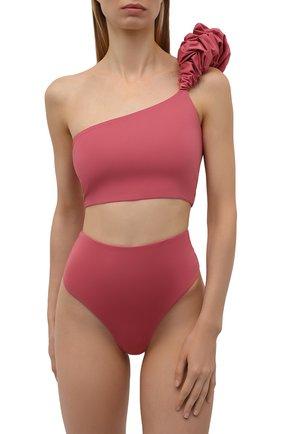 Женский раздельный купальник MAYGEL CORONEL розового цвета, арт. BK-068 | Фото 2 (Длина Ж (юбки, платья, шорты): Мини; Материал внешний: Синтетический материал; Женское Кросс-КТ: Раздельные купальники)