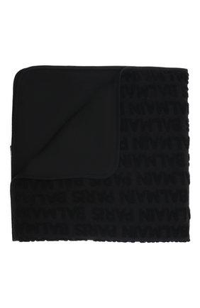 Детского хлопковое одеяло BALMAIN черного цвета, арт. 6P0A70 | Фото 1 (Материал: Текстиль, Хлопок)