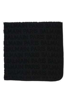 Детского хлопковое одеяло BALMAIN черного цвета, арт. 6P0A70 | Фото 2 (Материал: Текстиль, Хлопок)