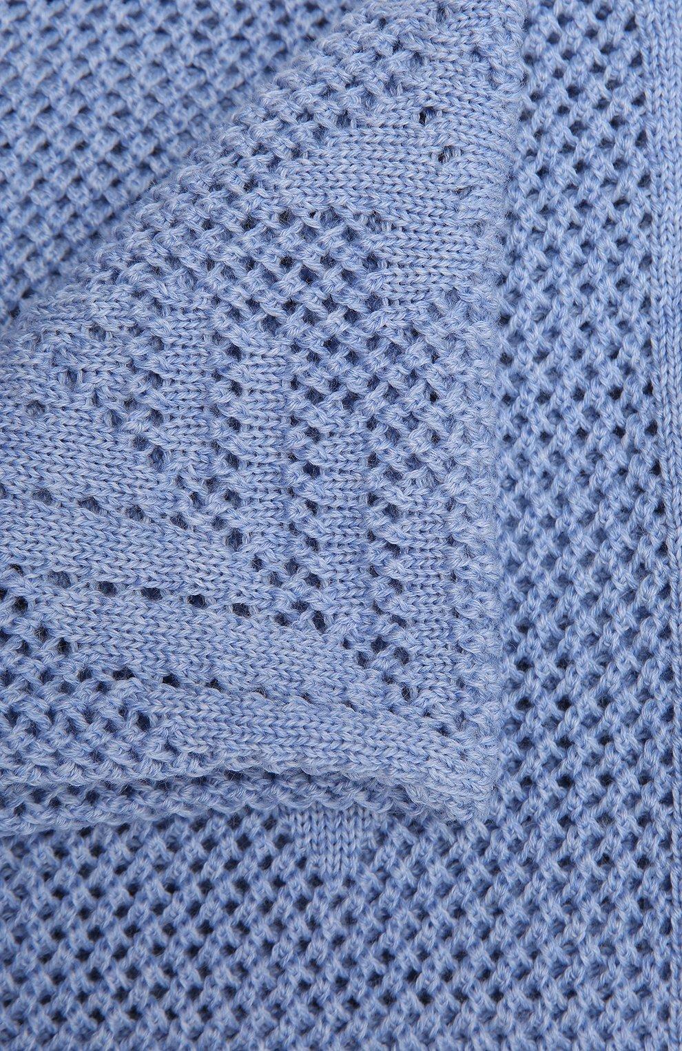 Детского шерстяной плед WOOL&COTTON голубого цвета, арт. VMLPL-K | Фото 3 (Материал: Шерсть)